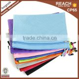 FH181 Custom Wholesale Mesh Canvas Zipper Pencil Pouch