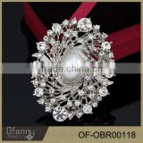 Extravagant Full Flashing Crystals Heart Brooch For Bridal Wedding Card