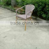 french style aluminium bamboo bistro chair