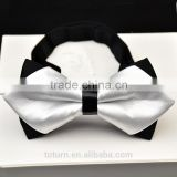 online shopping wholesales china white wedding bow tie with silk fabric                                                                                                         Supplier's Choice