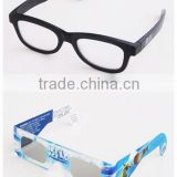 Popular hot selling colorful foldable plastic /paper 3d circular polarized film 3d tv glasses
