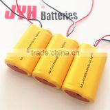 2.4V 600MAH NICD rechargable battery for mosquito bat