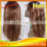 Brazilian Virgin Hair #4/27 Highlight Lace Front Wig Natural Hairline Human Hair Wigs For Black Women