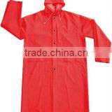 Strong adult red PVC long ladies raincoat