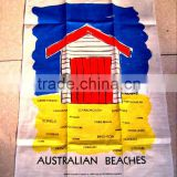 2015 new fashion cotton /linen tea towels for home decoration ,cheap promotional gift in high quality austrialian beach -26