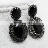 factory direct sale oval shape cheap fake gemstones diamond stud earrings