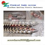 Twin coinical screw barrel for pvc extrusion profile machinery in stock
