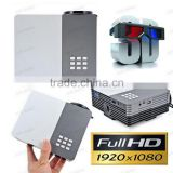 Portable Mini HD 1920 x 1080 Video Projector Keystone Correction 3.5mm Jack / DC / VGA / HDMI / USB / AV / SD Card for PC