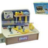 New Deluxe Wooden Workshop Too Table Sets Kids DIY Educational Toys
