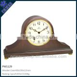 Exquisite table clock Wooden case for bedroom decoration White clock face High quality PW1129