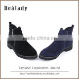 Hot sale casual high sheep suede leather ankle boots safety women shoes