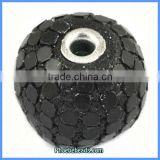 Wholesale Round Indonesia Style Black Clay Beads For Jewelry Making PCB-M100539