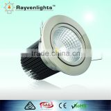 CE Rohs SAA Brush chrome Cree 15W dimmable LED DOWN LIGHT ,Round Cree COB 15w led downlight