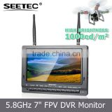 Wireless audio video transmitter receiver system 7 inch fpv monitor low price helicopter toy