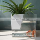 excellent desktop rectangle clear acrylic fish tank,large acrylic aquarium,large acrylic fish tank with flower pot