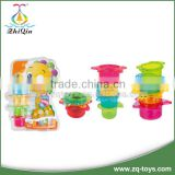 100% safe plastic baby educational toy stacking cup funny bath toys