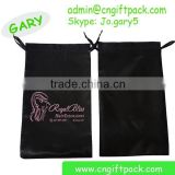 Hair Labels and Packaging Black Satin Hair Extension Hanger Bags