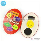 Multifunctional magnetic tin opener custom printed 58mm button bottle opener