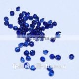 2.5*2.5mm natural industrial rough round blue sapphire stone
