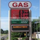 TF Double Sided Outdoor Scrolling Led Sign,Led Gas Price Sign,Led Moving Message For Petrol Station with double