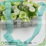 "1"" Wholesale ocean blue elastic lace"