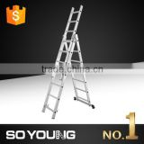 Aluminium fire escape ladder 3*9 3*10 3*11 3*12