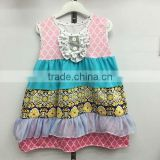 2016 newly made floral dress yiwu koya spring & summer new style cute hand made baby girl dress
