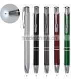Hot Multicolor mental ball pen with LED light pen