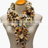 Tiger Animal Print Plush Faux Fur Neck Warmer Scarf