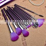 New fashion !! 16 PCS Pro Makeup Brush Set 16pcs Make up Cosmetic Tools With Purple PU Leather case Wholesale