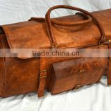 Real Leather Handmade Shoulder Bag Duffel Bag Mens Leather Duffel Bag Goat Leather Travel Bag Luggage Bag