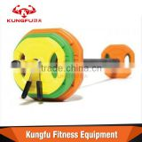 Body Pump Barbell with Black Bar And Coloured Discs                                                                         Quality Choice