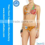 New domi hot exotic soft pattern junior bikini swimwear/young girl swimsuit models/bikini girl