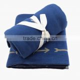Geometrical Arrows Double Knitted Blanket Cotton Baby Swaddle Blanket
