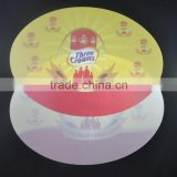 Custom plastic PP placemat , promotion plastic pp table mat oval shape color printing pp desk mat