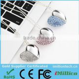 Wholesale: Jewelry flash drive, Heart Shaped Metal USB, USB 16GB 100% Full Capacity -Free Sample