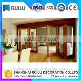 Natural Elegant Design Of The Interior Partition Folding Door Applied On The Wooden Floor