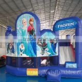 2016 Frozen Jumping Castle Trade Assurance hot sale Inflatable Combo Bouncing House for moonwalk and slider