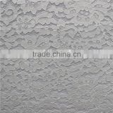 Cotton nylon swiss guipure lace composite with 3d air mesh fabric for winter cloth/apparel