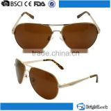 2015 new style high quality CE&FDA certificate factory, UV400 protect outdoor polarized lense metal sunglasses