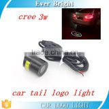 Car tail LOGO lamp c-ree 3w Rear Emblem Sticker LED Laser Projecting Car LOGO Lamp Warming Light Car Styling Tail LOGO Lamp
