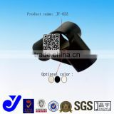 JY-A022|Black connecting joints for Round Tubes|Plastic PP pipe fitting|Elbow with rubber joint for coated pipe