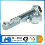 custom fast delivery steel with zinc plated hex bolt and nut