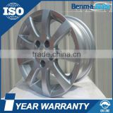 14*6 inch 9spoke 5hole silver car alloy wheel rim for Volkswagon POLO