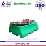 China ISO rotomolding outdoor large flower square plant pots plastic