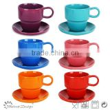 Custom printed ceramic coffee & tea set,porcelain cup & saucer,wholesale tea sets