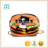 Alibaba hot 2016 cute biscute kid bag wholesale plush kindergarten purse for 3 year old kid