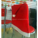 Soft Comfort Santa Hat Dining Chair Covers Christmas Party Decoration(10pcs,Red)SAD-0001