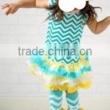 kids western wear baby toddler clothing girls summer cotton top and ruffle dress pettiskirt