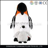 High quality cute soft plush sea Animal toy penguin with baby